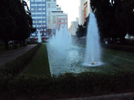 Park with a fountain in Belo Horizonte