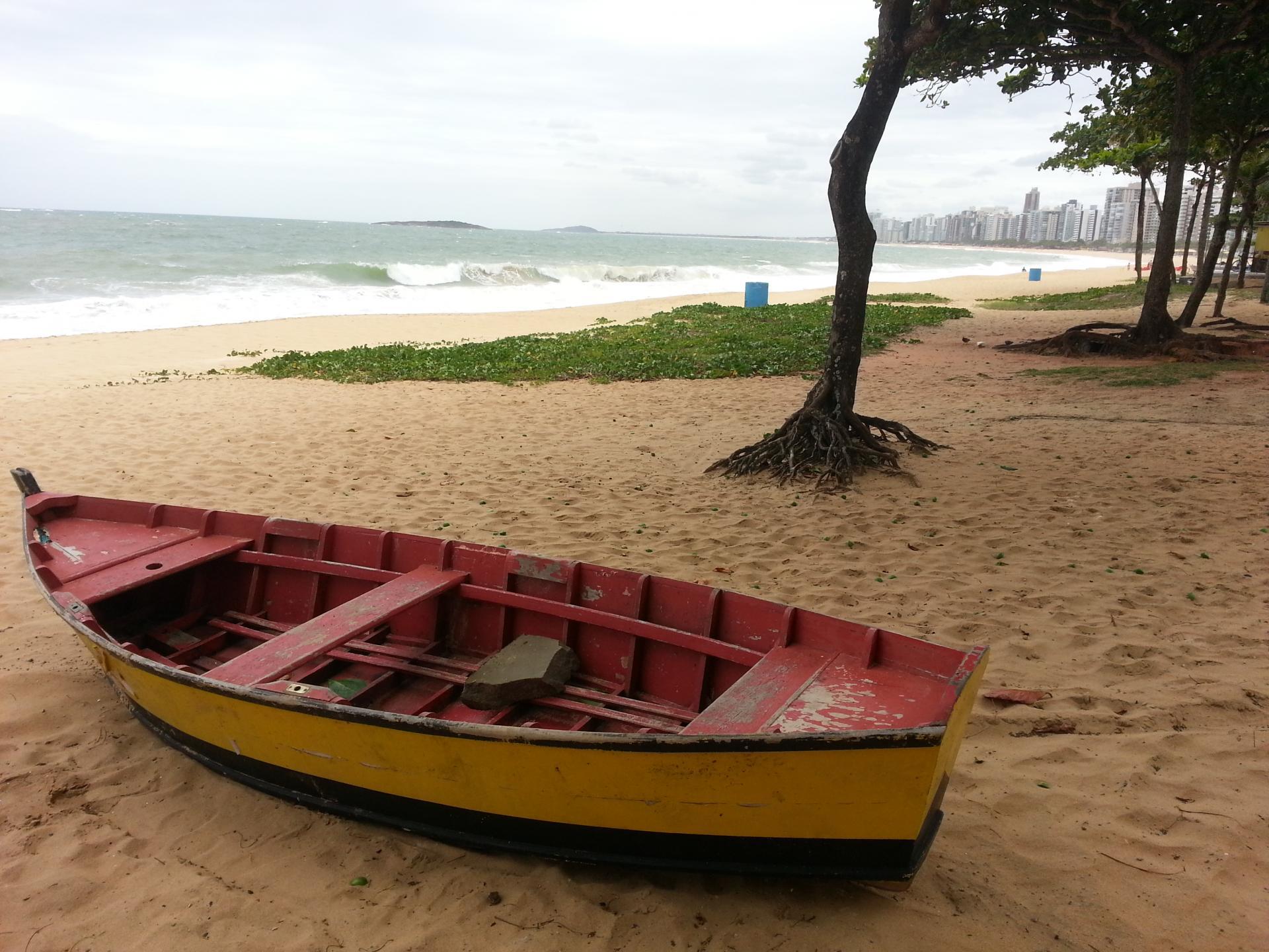 Boat on the beach of Vitoria