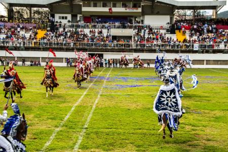 Cavalhadas in Brazil are staged horse shows