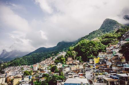 Outlook on favela in Rio de Janeiro