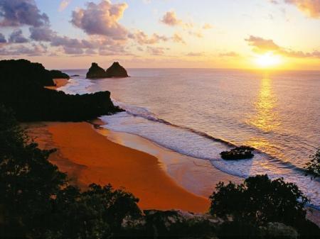 Sunrise on a Brazilian island.