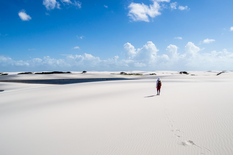 Sand desert in the Lencois Maranhenses
