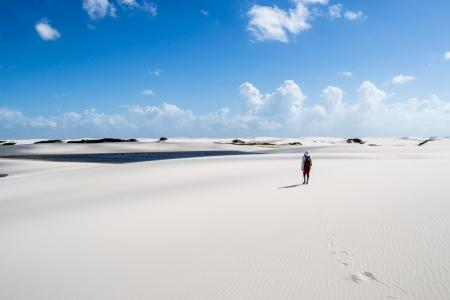 Sand desert in the Lencois Maranhenses