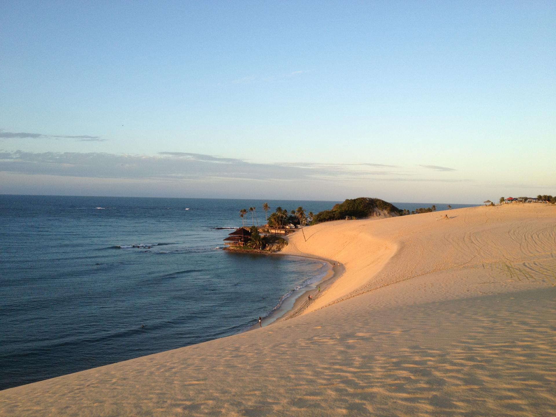Sea view from a dune in Natal
