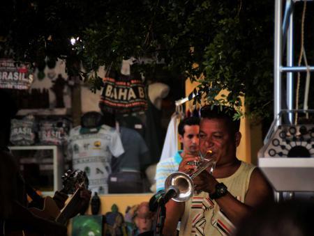 Samba rock trumpeter in Bahia