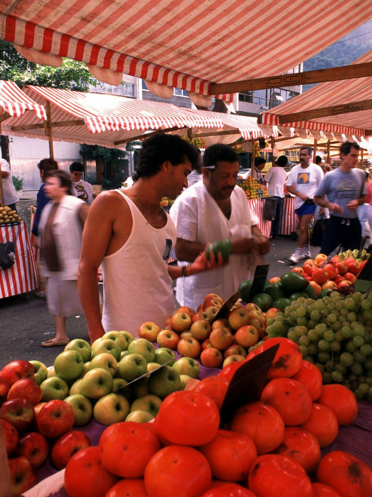 Shopping at a market in Rio