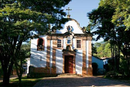 The colonial town of Tiradentes in the interior of Minas Gerais