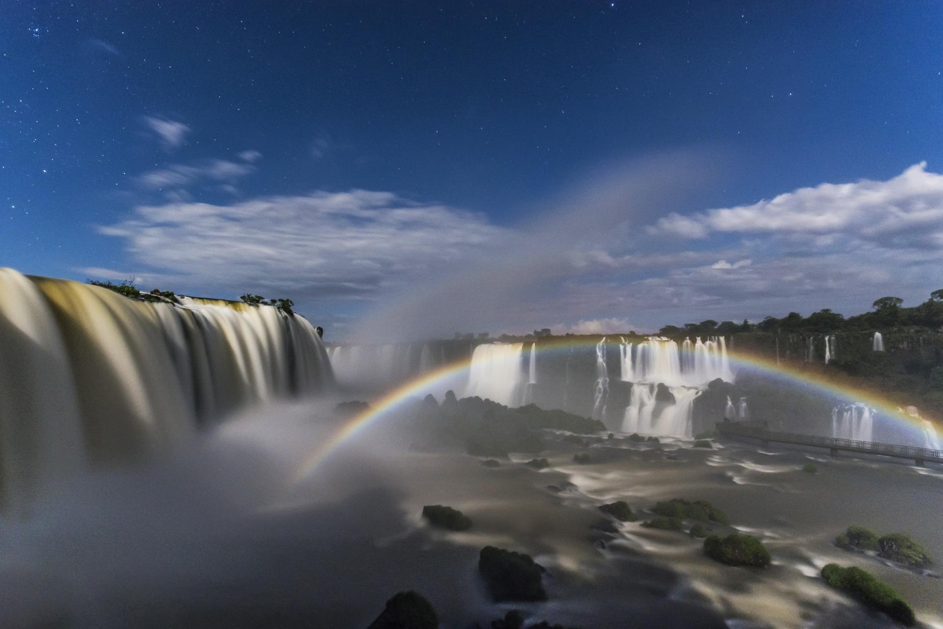 The impressive waterfalls of Foz do Iguacu