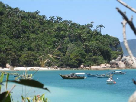Coast of Ilha Santa Catarina