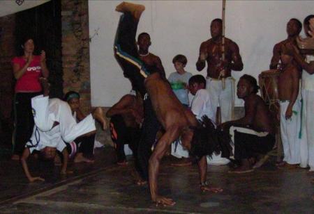 Capoeira dancers in Brazil