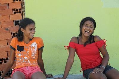 Brazilian girls in the favela