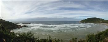 Panoramic view over Praia do Rosa