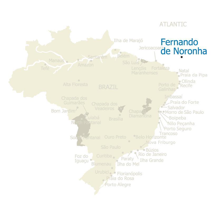 Brazil Map Fernando de Noronha