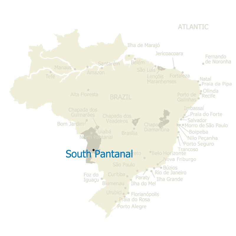 Brazil Map South Pantanal