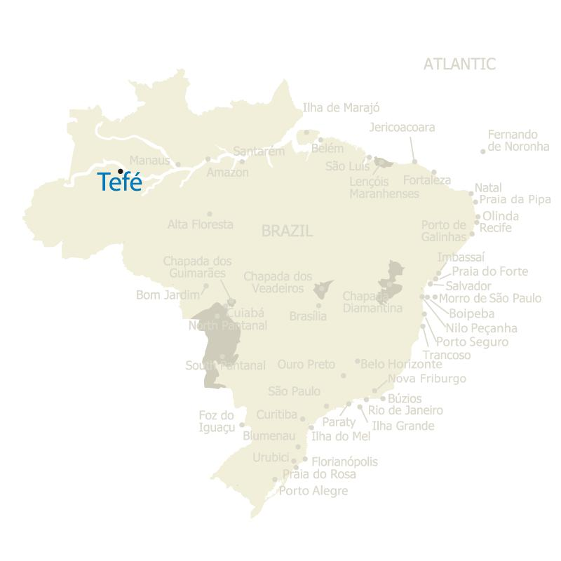 Brazil Map Tefe