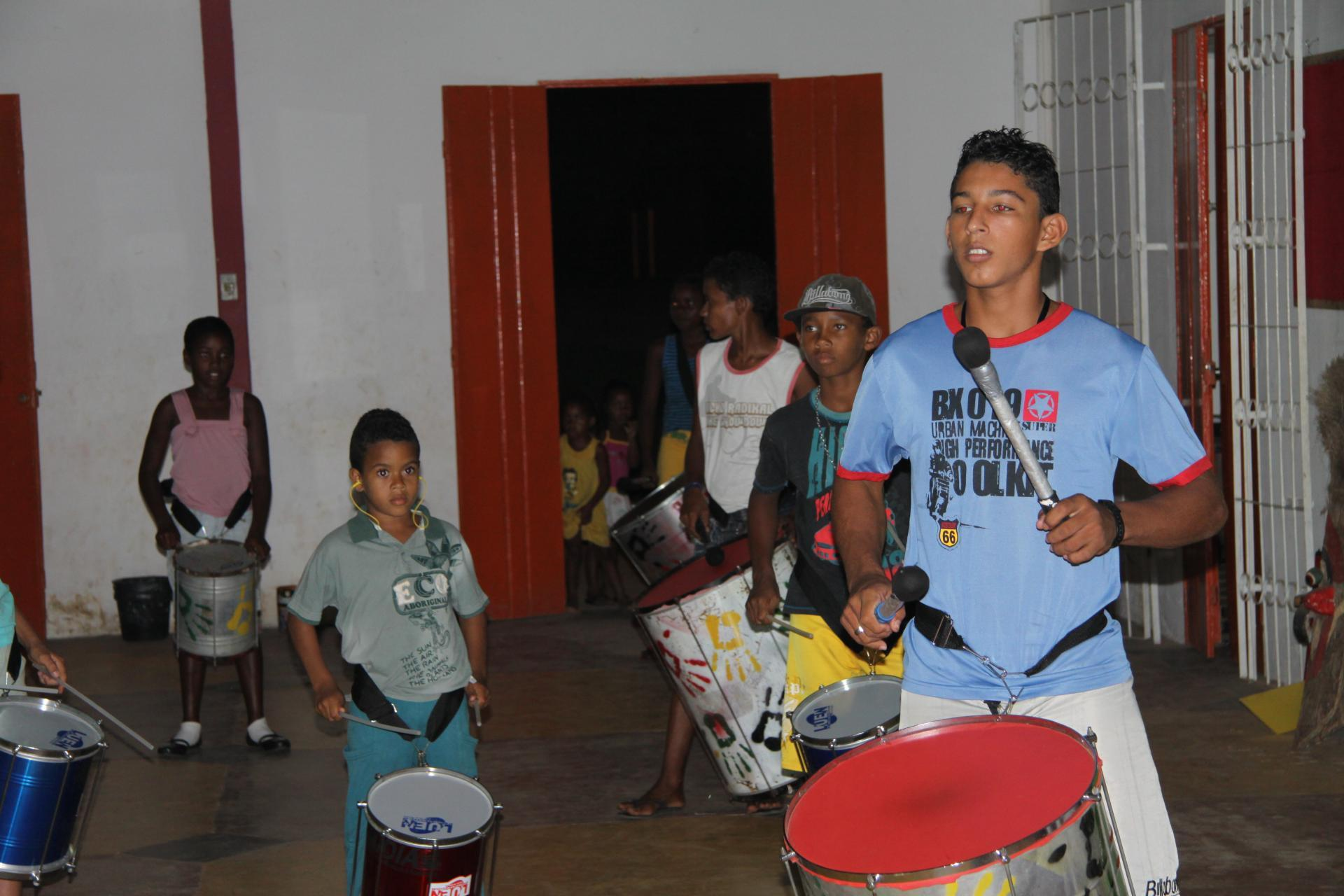 A percussion group in Bahia.