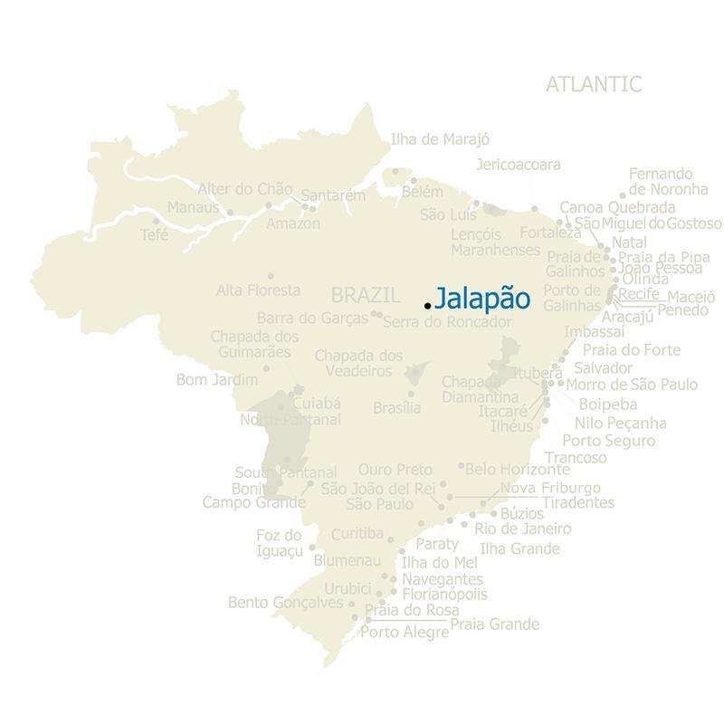 Brazil Map Jalapao
