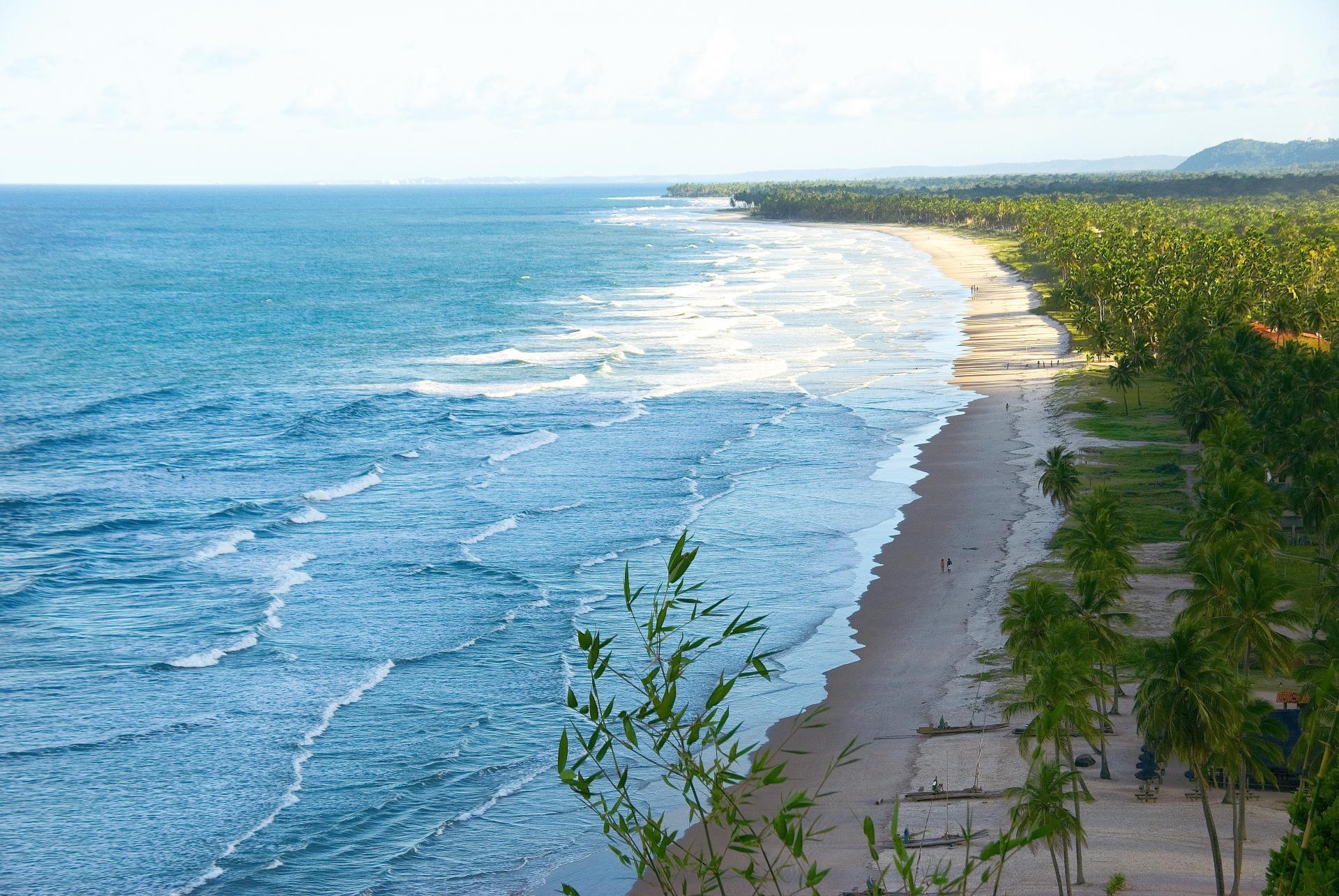 View overlooking beach in Itacare, Brazil