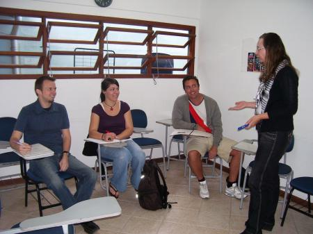 Example of a Portuguese class in Florianopolis