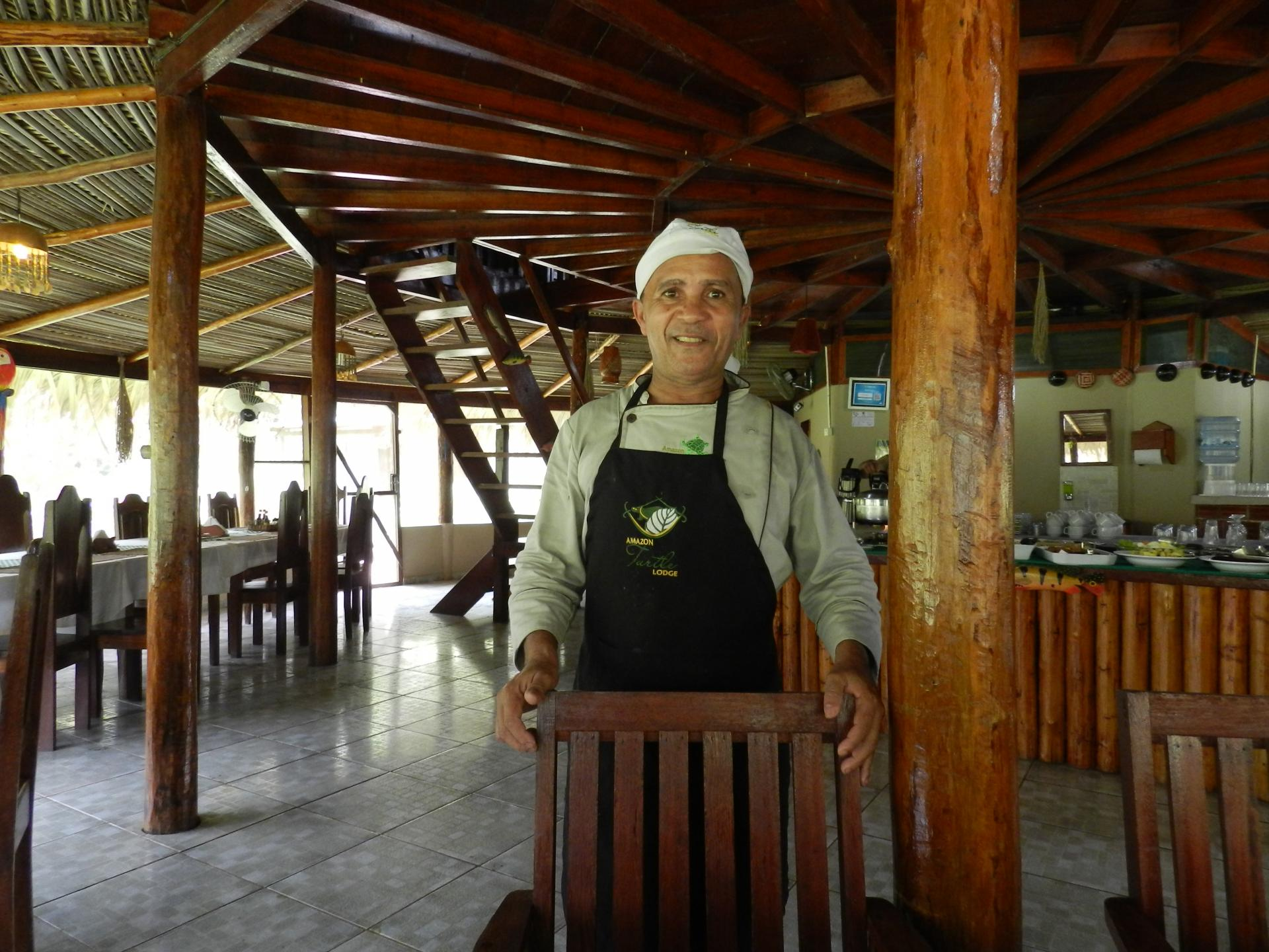 Brazil Amazon Turtle Lodge Travel Packages from 2 to 4 nights: staff in the restaurant