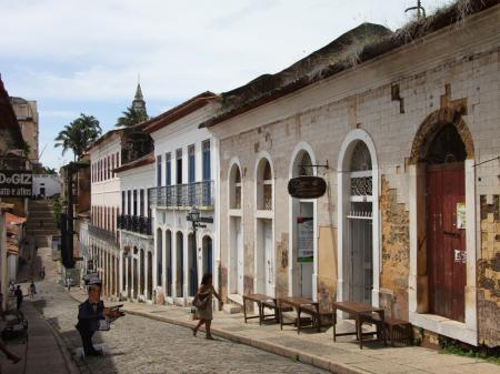 Small alley in the old town of Sao Luis