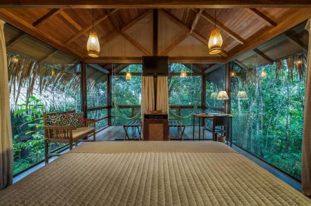 Interior of a Bungalow at Anavilhanas Jungle Lodge