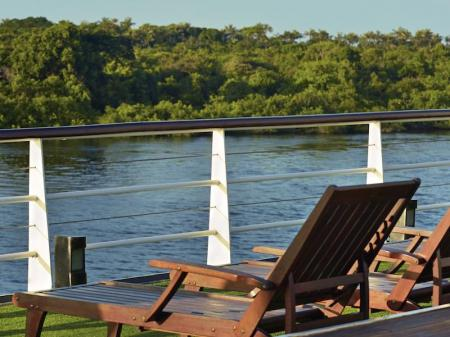 Enjoy the view on the Amazon Rainforest on the upper deck of Iberostar Grand Amazon