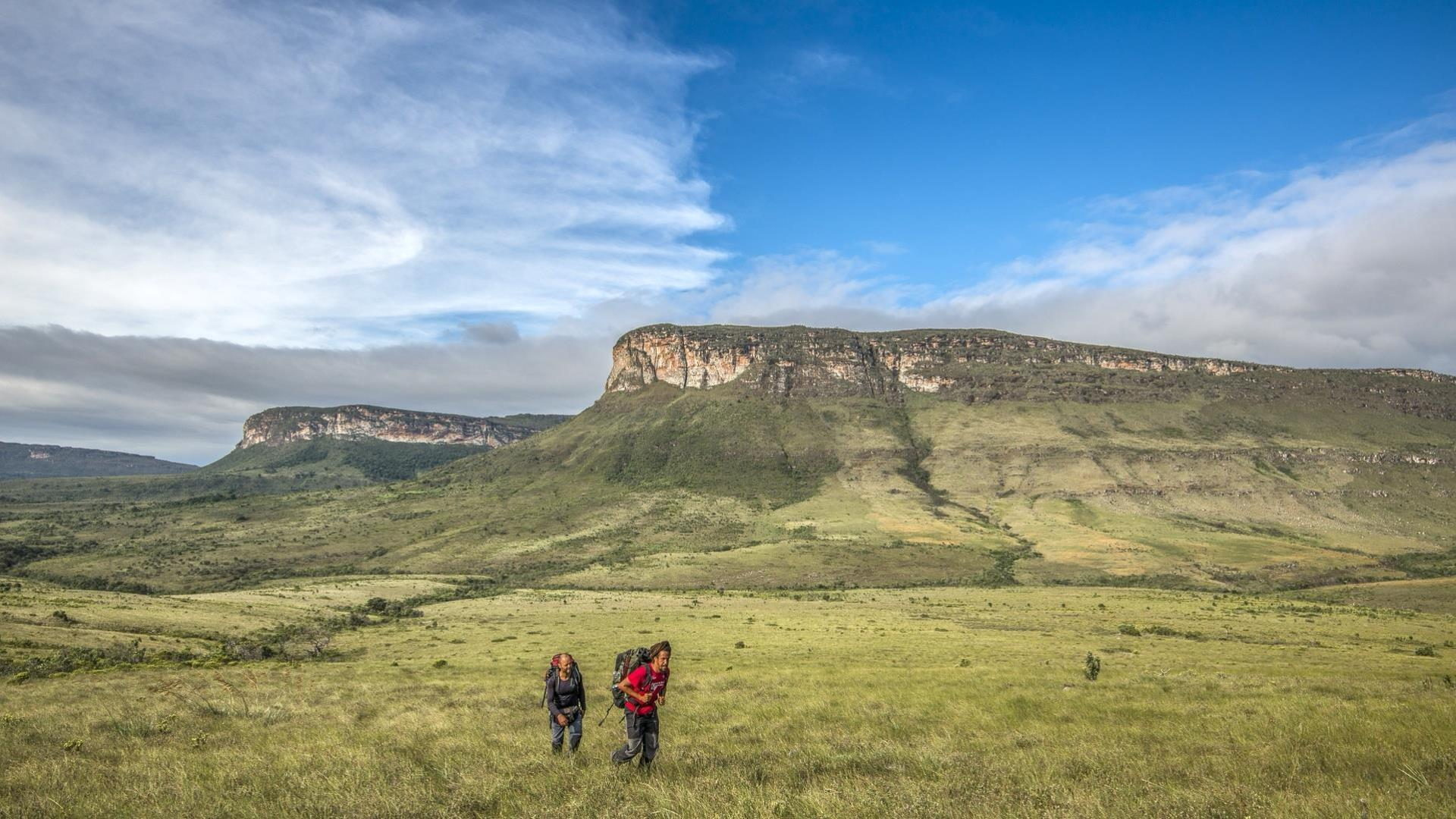 Two visitors trekking in the Chapada Diamantina National Park, Bahia - Brazil