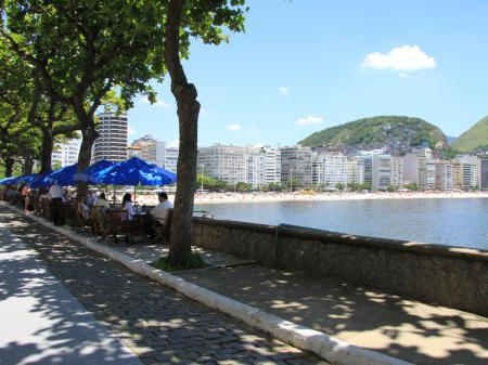 The famous Copacabana strip in Rio de Janeiro