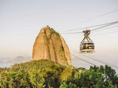 Up to the Sugarloaf Mountain by cable car