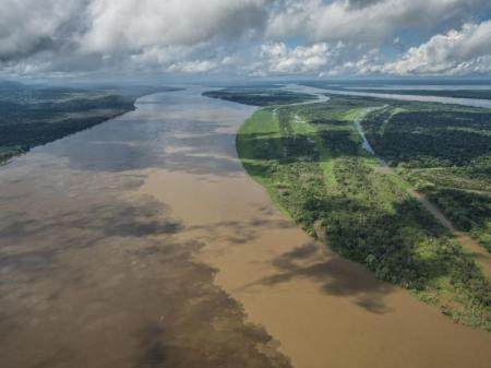 Landscape on the Amazon