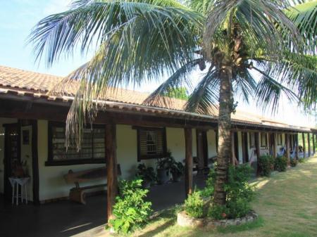 External view of the facilities of Pousada Reino Encontado in the North-Pantanal