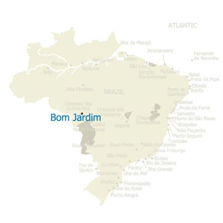A Map of Brazil and Bom Jardim