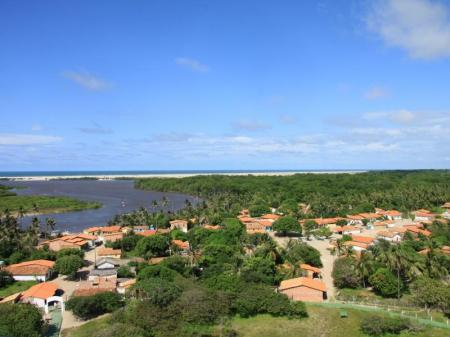 Rio Preguicas near Cabure before the mouth into the sea