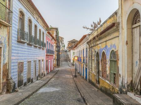 Colourful old town of Sao Luis