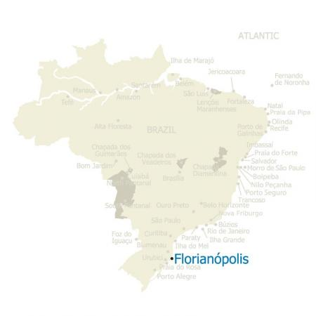 Map of Brazil and Florianopolis