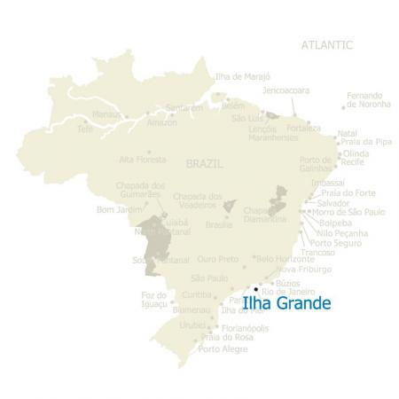 Map of Ilha Grande, Brazil