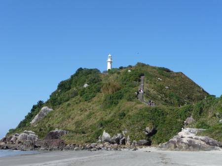 A lighthouse at the beach on the island Ilha do Mel, Parana