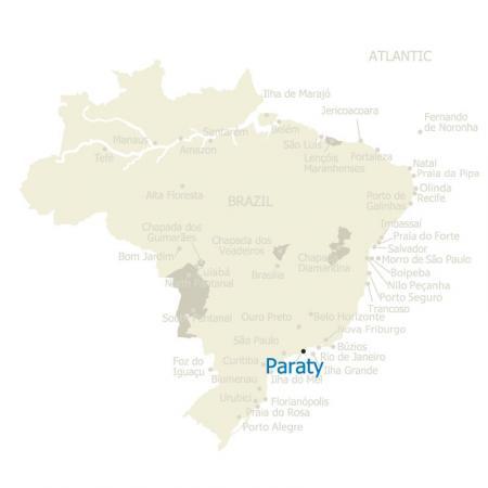 Map of Paraty, in Rio de Janeiro - Brazil