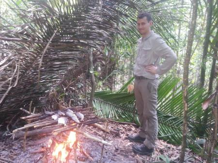 Amazon Survival Tour camp fire