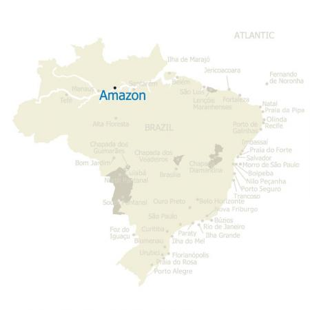 Map of the Amazon and Brazil