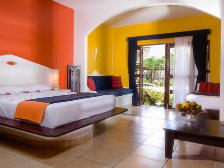 Example of a coroful double room at Hotel My Blue in Jericoacoara