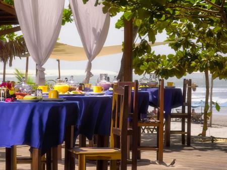 Breakfast near to the beach at Hotel My Blue in Jericoacoara