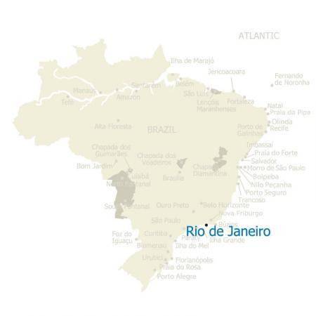 Brazil Map Rio de Janeiro