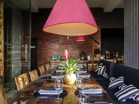 Restaurant of Hotel Santa Teresa in Rio de Janeiro, Brazil