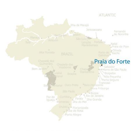 Map Praia do Forte Brazil