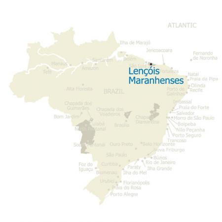 MAP Lencois Maranhenses Brazil