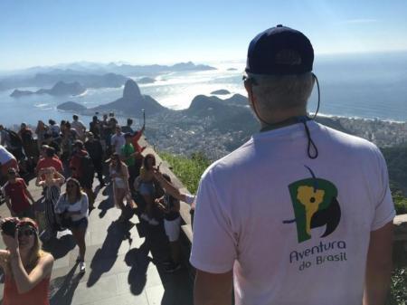 view above Rio de Janeiro from christ the redeemer