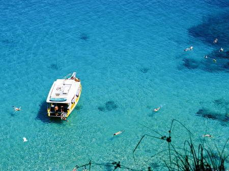 Blue sea on the archipelago Fernando de Noronha
