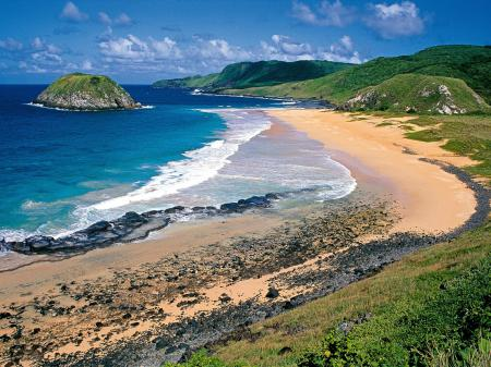 A beach on Fernando de Noronha